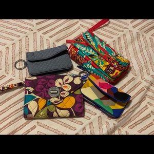 Bundle of Vera Bradley wristlets and wallets